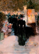 Paris Nocturne painting reproduction, Childe Hassam