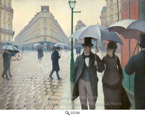 Gustave Caillebotte, Paris Street, Rainy Weather oil painting reproduction