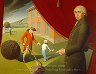 Parson Weems' Fable painting reproduction, Grant Wood