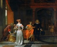 Party painting reproduction, Pieter De Hooch