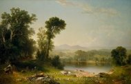 Pastoral Landscape painting reproduction, Asher Brown Durand