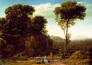 Pastoral Landscape with a Mill painting reproduction, Claude Lorraine