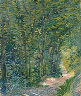 Path in the Woods painting reproduction, Vincent Van Gogh