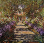 Pathway in Monet's Garden at Giverny painting reproduction, Claude Monet