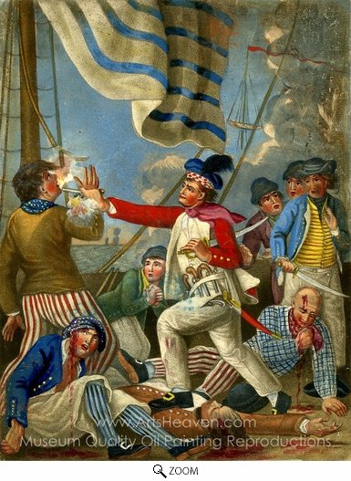John Collet, Paul Jones Shooting a Sailor oil painting reproduction