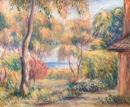 Paysage a Cagnes painting reproduction, Pierre-Auguste Renoir
