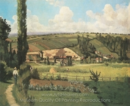 Paysage aux Patis, Pontoise painting reproduction, Camille Pissarro