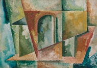 Paysage Cubiste painting reproduction, Amadeo De Souza-Cardoso