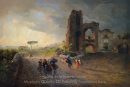 Paysage Romain painting reproduction, Oswald Achenbach