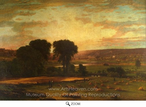 George Inness, Peace and Plenty oil painting reproduction