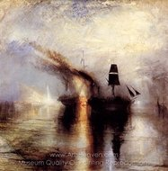 Peace, Burial at Sea painting reproduction, Joseph M. W. Turner