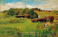 Peace, Fort Hamilton painting reproduction, William Merritt Chase