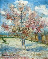 Peach Trees in Blossom painting reproduction, Vincent Van Gogh