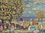 Peaches Point painting reproduction, Maurice Prendergast
