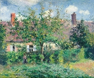 Peasant House at Eragny painting reproduction, Camille Pissarro