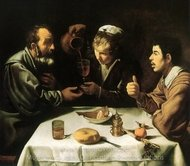 Peasants at a Table painting reproduction, Diego Velazquez