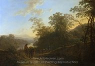 Peasants with Mules and Oxen painting reproduction, Jan Both