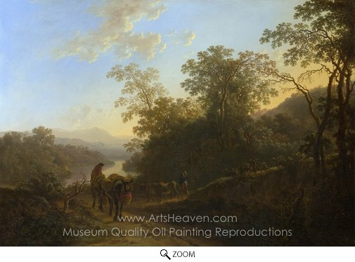 Jan Both, Peasants with Mules and Oxen oil painting reproduction