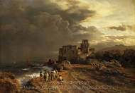 Peeling Storm on the Italian Coast painting reproduction, Oswald Achenbach