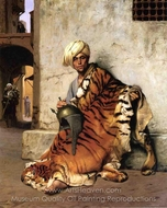 Pelt Merchant of Cairo painting reproduction, Jean-Leon Gerome