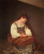 Penitent Magdalene painting reproduction, Caravaggio