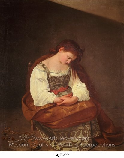 Caravaggio, Penitent Magdalene oil painting reproduction