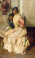 Pepilla the Gypsy and Her Daughter painting reproduction, Joaquin Sorolla