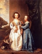 Philadelphia and Elizabeth Wharton painting reproduction, Sir Anthony Van Dyck