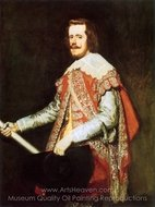Philip IV at Fraga painting reproduction, Diego Velazquez
