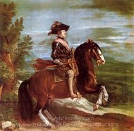 Philip IV on Horseback painting reproduction, Diego Velazquez