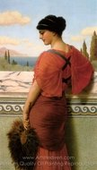 Phyleis painting reproduction, John William Godward
