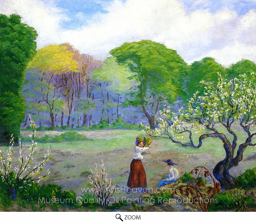 Paul Ranson, Picking Flowers oil painting reproduction