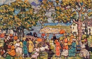 Picnic painting reproduction, Maurice Prendergast
