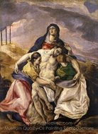 Pieta painting reproduction, El Greco