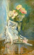 Pink Anemones painting reproduction, Berthe Morisot