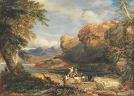 Pirate's Isle painting reproduction, David Cox