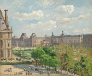 Place du Carrousel, Paris painting reproduction, Camille Pissarro
