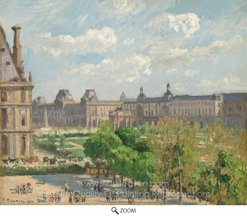 Camille Pissarro, Place du Carrousel, Paris oil painting reproduction