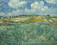 Plain at Auvers with Rain Clouds painting reproduction, Vincent Van Gogh