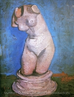 Plaster Statuette of a Female Torso painting reproduction, Vincent Van Gogh