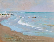 Playa de Valencia painting reproduction, Joaquin Sorolla