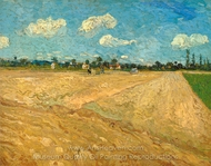 Ploughed Fields painting reproduction, Vincent Van Gogh