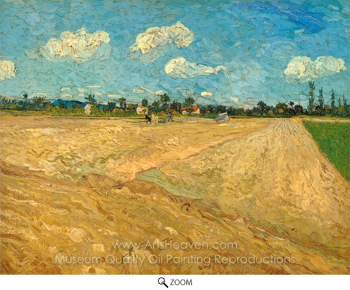 Vincent Van Gogh, Ploughed Fields oil painting reproduction