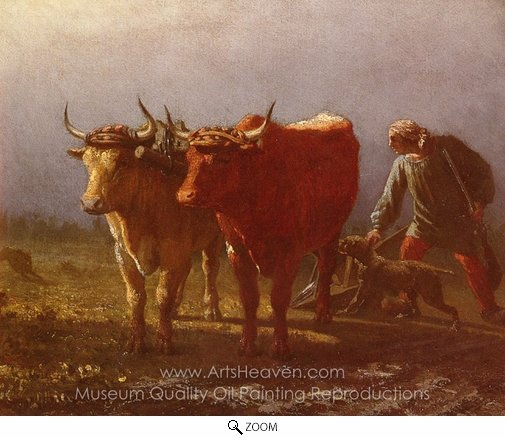 Constant Troyon, Plowing oil painting reproduction