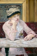 Plum Brandy painting reproduction, �douard Manet