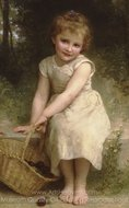 Plums (Les Prunes) painting reproduction, William A. Bouguereau