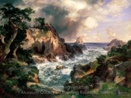 Point Lobos, Monterey, California painting reproduction, Thomas Moran