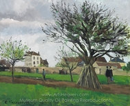 Pommiers Pontoise painting reproduction, Camille Pissarro