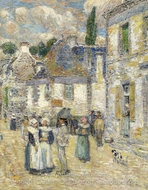 Pont-Aven painting reproduction, Childe Hassam