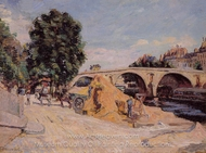 Pont Marie from the Quai d'Anjou painting reproduction, Armand Guillaumin